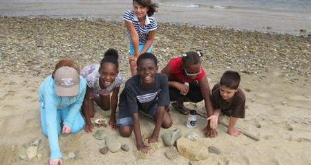 Tour activities at the Nantucket Field Station