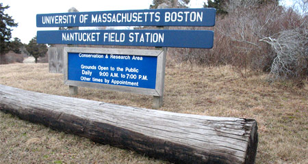 Nantucket Field Station Welcome sign