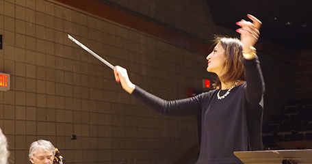 Sommer Forrester, Conductor of UMass Boston Chamber Orchestra
