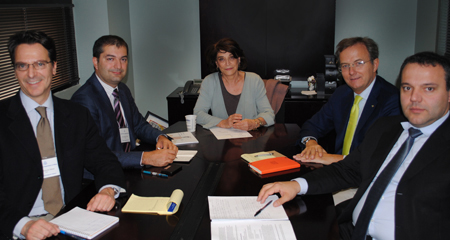 Delegates from Italy Meet with UMass Boston Professor to Discuss Data Privacy and Protection