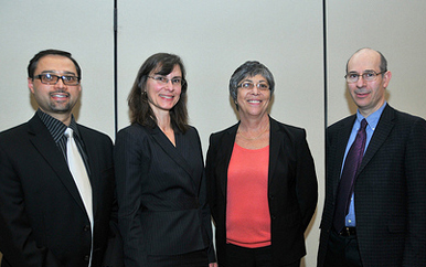 Kathrin Winkler, Senior VP and Chief Sustainability Officer, EMC Corp with SERC members