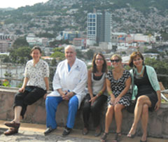 Health Volunteers Overseas (HVO) team overlooking Tegucigalpa, Honduras, August 2011.
