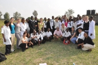 The EMT team with the US students at Mbagathi clinic within the city of Nairobi