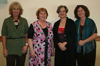 DEU Faculty Katie Kafel and Esther Seibold with Kay Edgecombe (second from left) and Program Director JoAnn Mulready-Shick