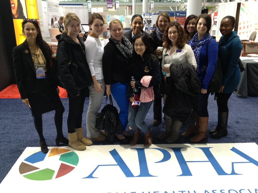 CNHS students and Adrienne Wald attend Student Day at the 141st American Public Health Association annual conference on November 6