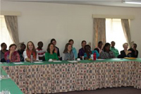 Boston and Kenya team at the debriefing conference in Nairobi.