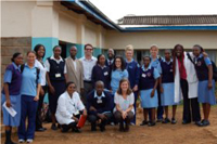 Tumutumu Team in respective school's uniform after a long day of lectures and touring Tumutumu Hospital.