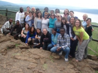 KHAS 2012 team members enjoying a day on safari the Nakuru National Park.