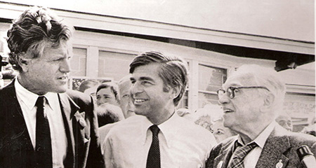 Image of Frank J. Manning, Edward M. Kennedy and Michael Dukakis