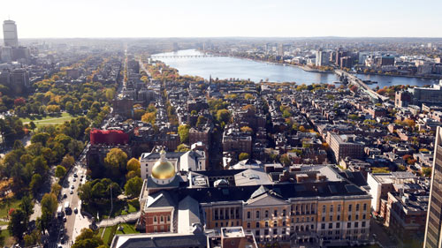 View from UMass Club at One Beacon in Boston