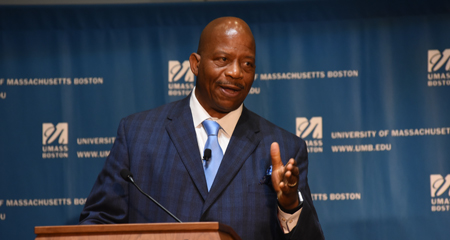 Chancellor J. Keith Motley delivers the 2016 convocation address