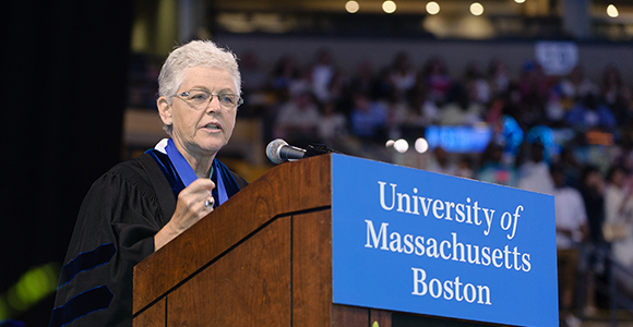 EPA Chief Gina McCarthy to UMass Boston Grads: Be Comfortable Being Uncomfortable