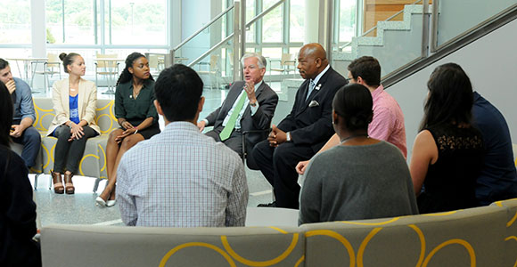 Marty Meehan Meets with UMass Boston Students to Launch UMass Presidency