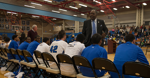 Beacons Win on 'Charlie Titus Day' as Titus Ends 40-Year Men's Basketball Coaching Career