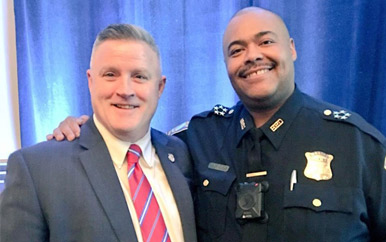 Philip Carver Director of Community Relations and William Gross Superintendent Boston Police