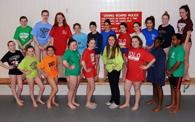 The BCYF Leahy-Holloran Community Center Monster Swim Team