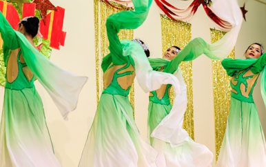 Image of a Chinese New Year performance