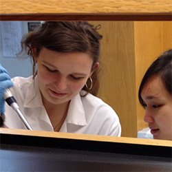 Winter Enrichment Program students working in a lab