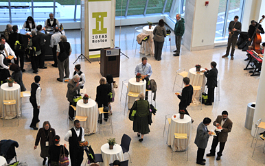 IDEAS Boston attendees at the closing reception