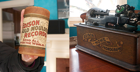 Edison cylinder and phonograph