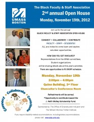 The Black Faculty & Staff Association Open House Flyer