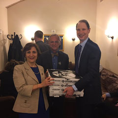 Pizza delivered to the House of Representatives sit-in protest over gun control.