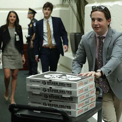 Pizza delivered to the House of Representative gun control sit in. 2016