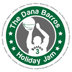 Graphic of a person shooting a basketball - text says The Dana Barros Holiday Jam