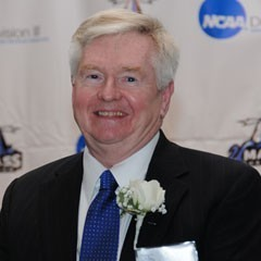 Picture of Dan Rea taken in October 2011, the night he was inducted into UMass Boston's Hall of Fame
