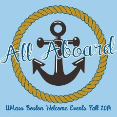 Welcome Week logo that says All Aboard
