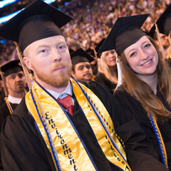 School for the Environment undergraduates celebrate at commencement