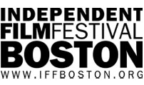 Text logo says Independent Film Festival Boston www.iffboston.org