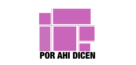 Por Ahi Dicen logo with purple blocks