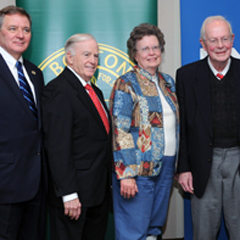 2011 Education for Service recipients. Joan Moon was also a recipient.