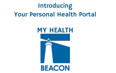 Graphic says Introducing Your Personal Health Portal