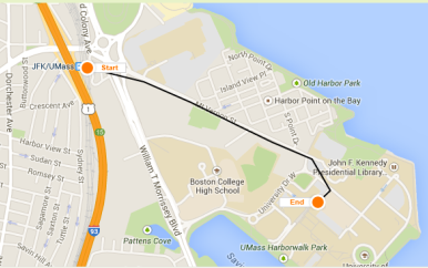 Map of the UMass Boston campus