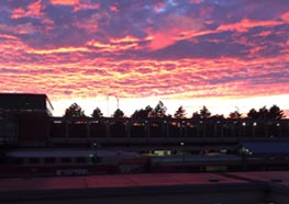 Nan Cormier took this sunset photo from the JFK/UMass stop.