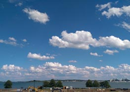 IT staff member Jamil Moosavifard took this picture of the view from UMass Boston, facing out toward the water.