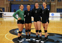 Senior members of the 2016 Beacons volleyball team
