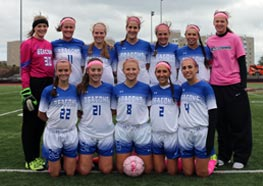 The women's soccer team honored the late Katherine Wall '08 at their second annual