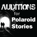 Text on graphic says Auditions for Polaroid Stories