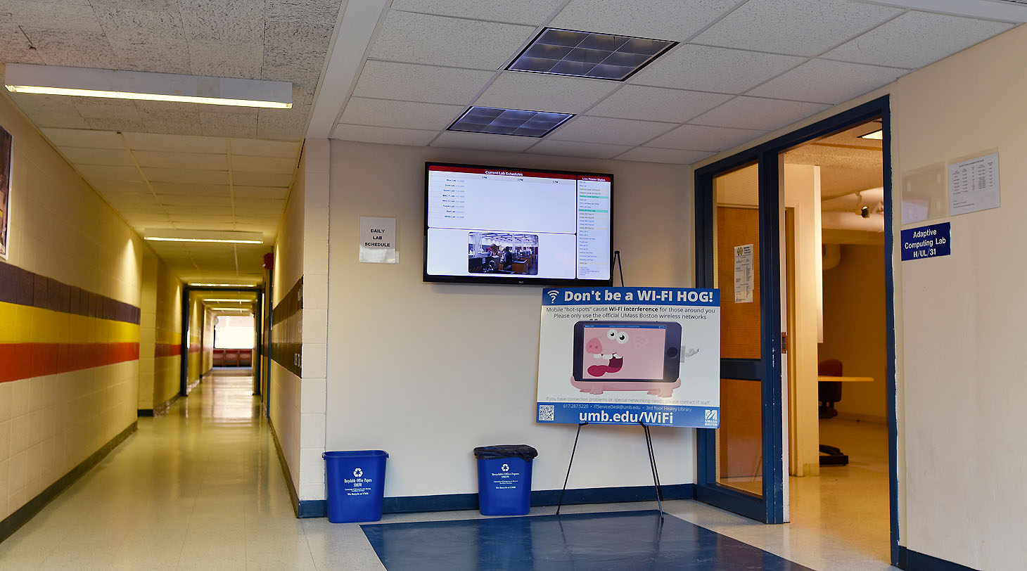 Entrance to the Labs Hallway and ACL