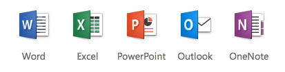 Image of Office 365 icons
