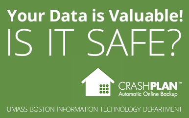 Crashplan backup service graphic - Your data is valuable! Is it safe?