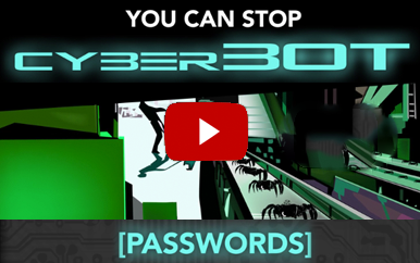 Screenshot of security instruction video with a play button