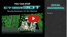 Screenshot of Cyber Security video about social engineering