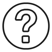 Question mark icon for tech support section