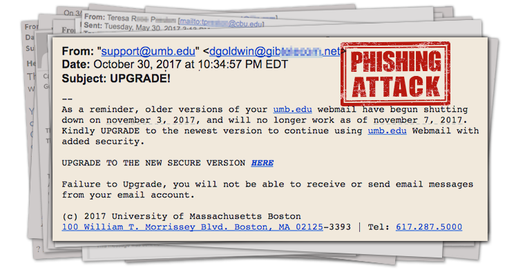 "Beware the Phishing Email Titled, ""UPGRADE!"""