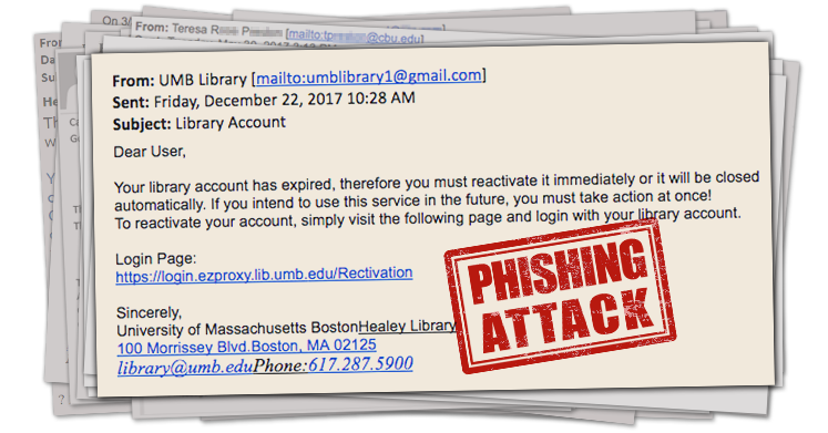 Beware the Phishing Email Titled,