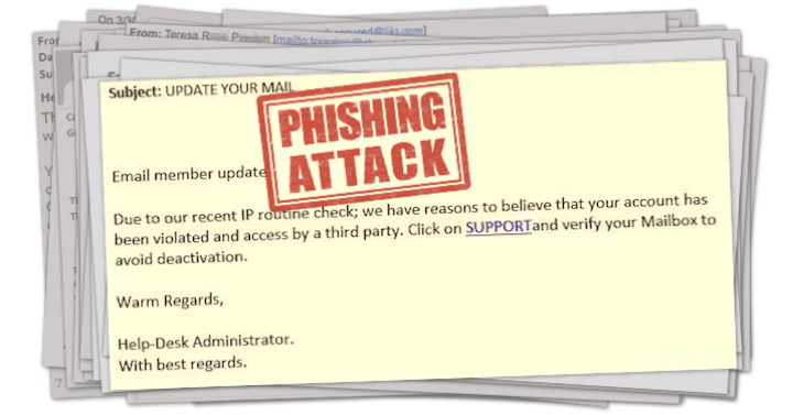 "Screenshot of Phishing Email Titled, ""UPDATE YOUR MAIL"""